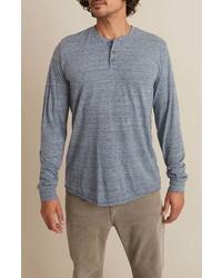 Marine Layer Cotton Blend Long Sleeve Henley