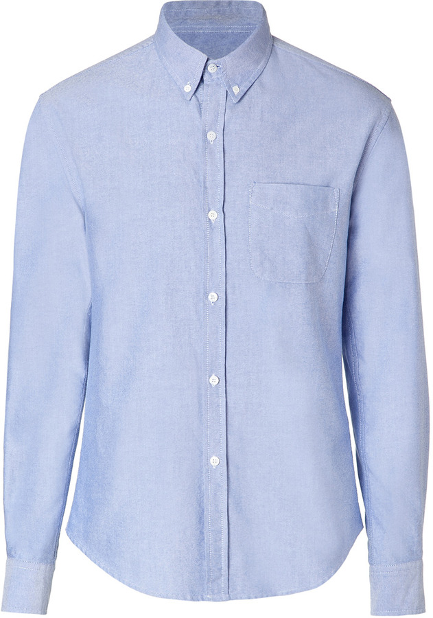 Band Of Outsiders Cotton Button Down Shirt In Light Blue | Where ...