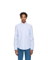 Lanvin Blue And White Seersucker Shirt