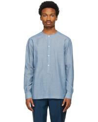 Ermenegildo Zegna Blue Band Collar Shirt