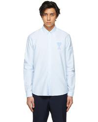 AMI Alexandre Mattiussi Blue Big Ami De Coeur Shirt