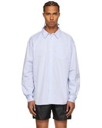 Palmes Blue Daryl Long Sleeve Shirt