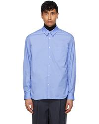 Juun.J Blue Double Layered Shirt