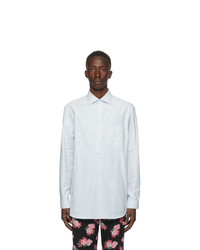 Gucci Blue Heavyweight Oxford Gg Shirt