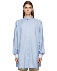 Maison Margiela Blue Organic Dcortiqu Oxford Shirt