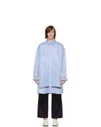Maison Margiela Blue Oversized Organza Shirt