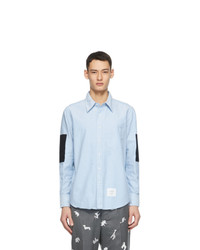 Thom Browne Blue Oxford Elbow Patch Shirt