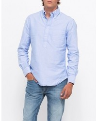 Gitman Brothers Blue Oxford Ls Popover
