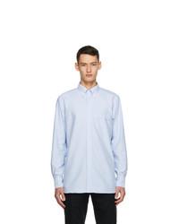 Drakes Blue Oxford Regular Fit Shirt