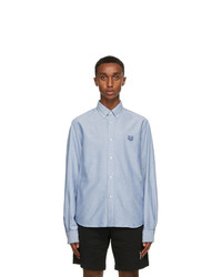 Kenzo Blue Oxford Tiger Shirt