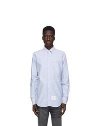 Thom Browne Blue Oxford Tricolor Classic Shirt