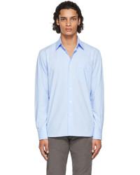 Salie66 Blue Poplin Henry Shirt