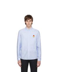 AMI Alexandre Mattiussi Blue Smiley Edition Shirt