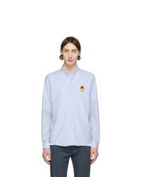 AMI Alexandre Mattiussi Blue Smiley Oxford Shirt