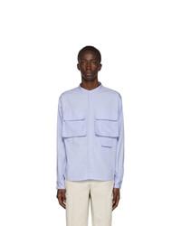 Kenzo Blue Stand Collar Shirt
