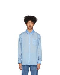 Comme Des Garcons SHIRT Blue Taffeta Shirt