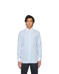 Husbands Blue Wide Collar Shirt