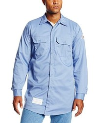 Bulwark Flame Resistant 7 Oz Cotton Work Shirt With Sleeve Vent