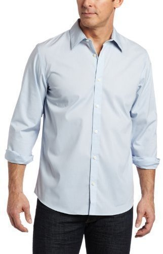 Calvin Klein Solid Button Front Woven Shirt