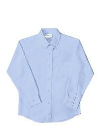 Classroom Uniforms Boys School Uniforms Light Blue Long Sleeve Oxford Shirt