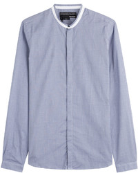 The Kooples Collarless Cotton Shirt