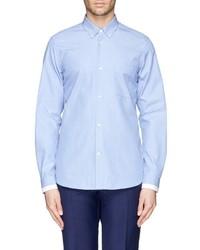 Mauro Grifoni Contrast Cuff Trim Oxford Shirt