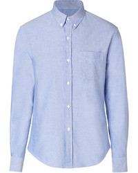 Band Of Outsiders Cotton Button Down Shirt In Light Blue