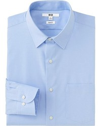 Uniqlo Easy Care Slim Fit Broadcloth Long Sleeve Shirt