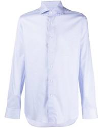Canali Fine Spot Cotton Lyocell Blend Shirt