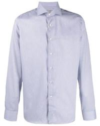 Canali Fine Striped Cotton Shirt