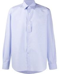 Lanvin Grid Print Long Sleeved Shirt