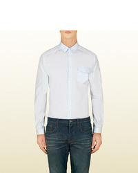 Gucci Light Blue Poplin Duke Shirt