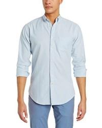 Haggar Life Khaki Solid Oxford Long Sleeve Slim Fit Woven Shirt