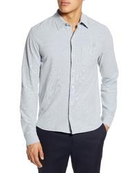 Vince Heathered Button Up Pique Shirt