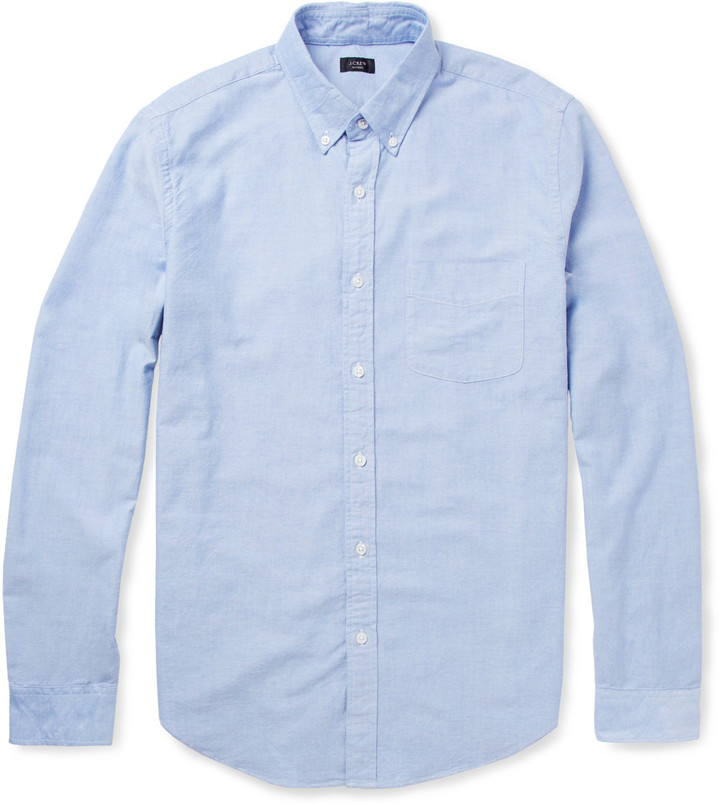 J crew button down collar cotton oxford shirt where to for Oxford long sleeve button down shirt