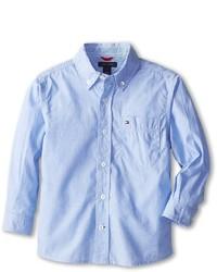 Tommy Hilfiger Kids Vineyard End On End Shirt Boys Long Sleeve Button Up