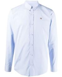 MAISON KITSUNÉ Logo Embroidered Cotton Shirt