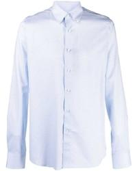 Canali Polka Dot Slim Fit Shirt