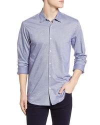 Scotch & Soda Regular Fit Knit Button Up Shirt