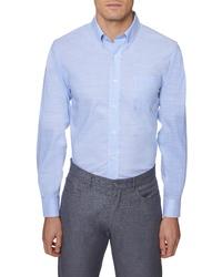 Hickey Freeman Regular Fit Slubbed Sport Shirt