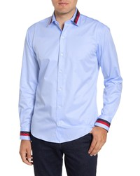 Bugatchi Shaped Fit Button Up Sport Shirt