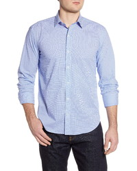 Bugatchi Shaped Fit Dot Button Up Shirt