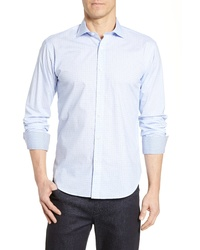 Bugatchi Shaped Fit Dot Sport Shirt