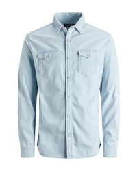 Jack & Jones Sheridan Cotton Snap Front Shirt