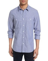 Shop slim fit slub cotton sport shirt medium 5253928