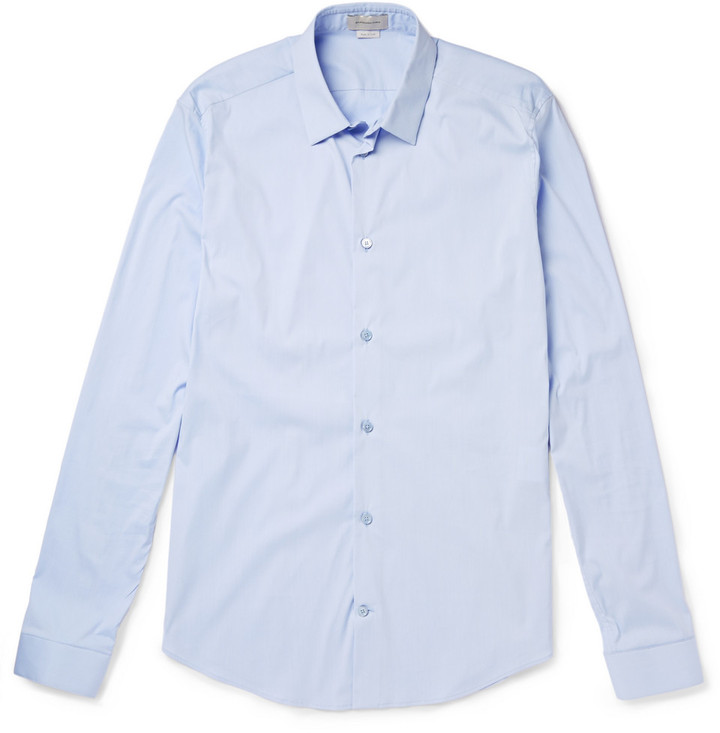 ... Balenciaga Slim Fit Cotton Blend Poplin Shirt ... b24bd4864ab1