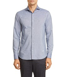 Z Zegna Slim Fit Washed Button Up Shirt