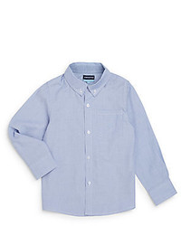 Andy & Evan Toddlers Blue Chambray Button Down Shirt