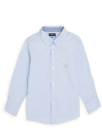 Andy & Evan Toddlers Light Blue Striped Button Down Shirt