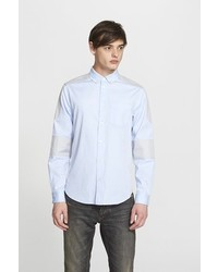 Marc by Marc Jacobs Trim Fit Colorblock Cotton Oxford Shirt
